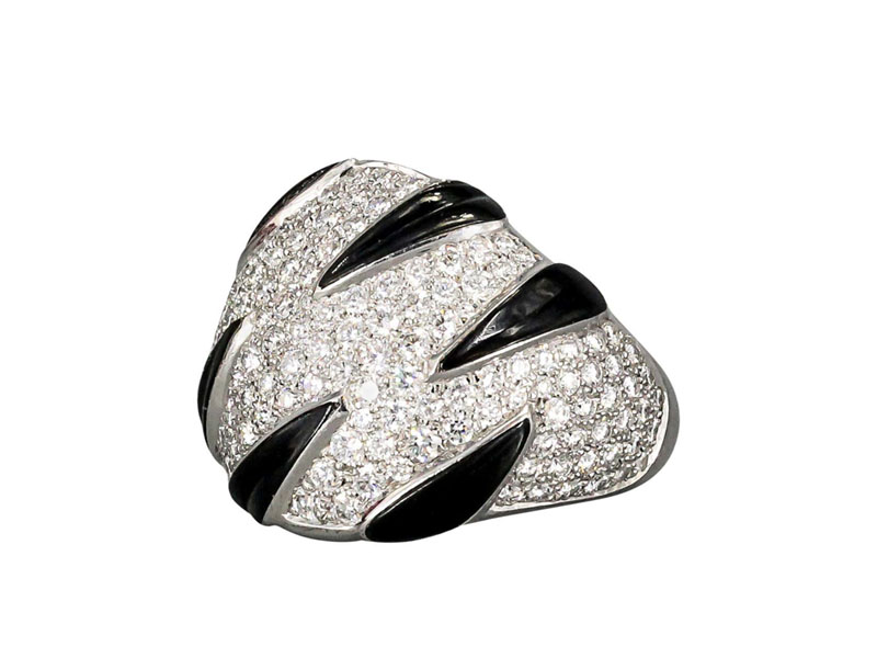 Кольцо Cartier Tiger Stripe Onyx Diamond