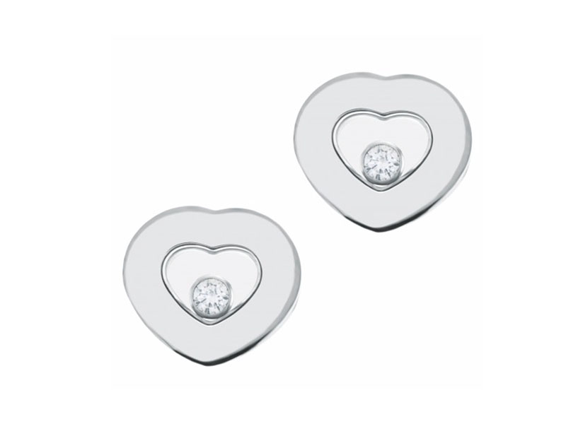 Chopard Heart Floating Diamond Icon серьги