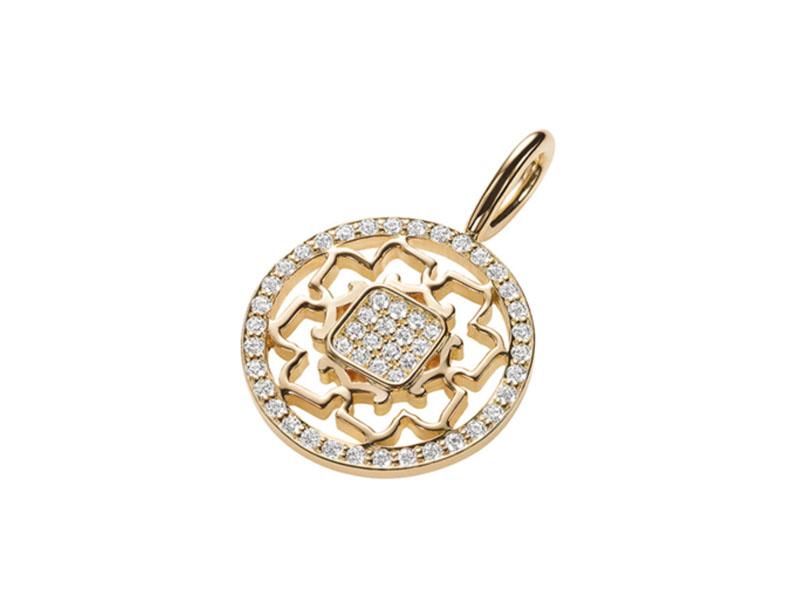 Harry Winston Diamonds Yellow Gold Peony Charm
