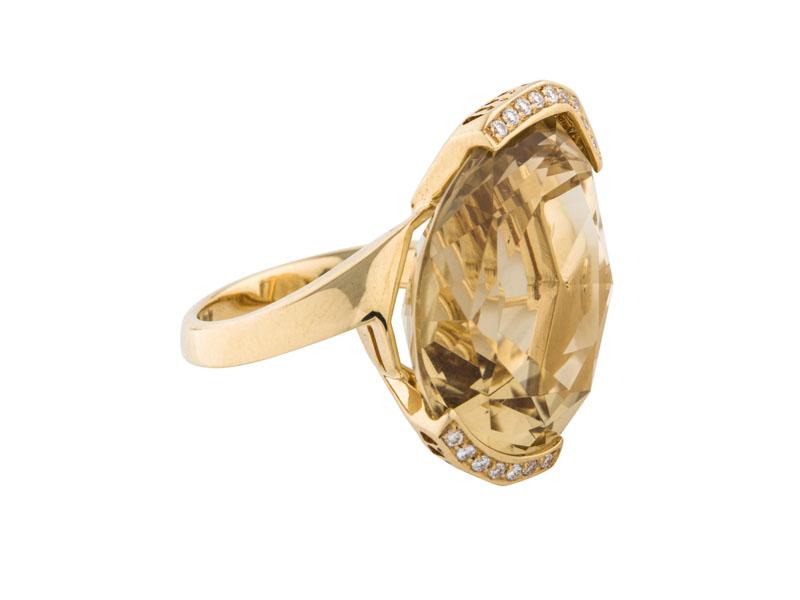 Ponte Vecchio Gioielli кольцо с цитрином и бриллиантами