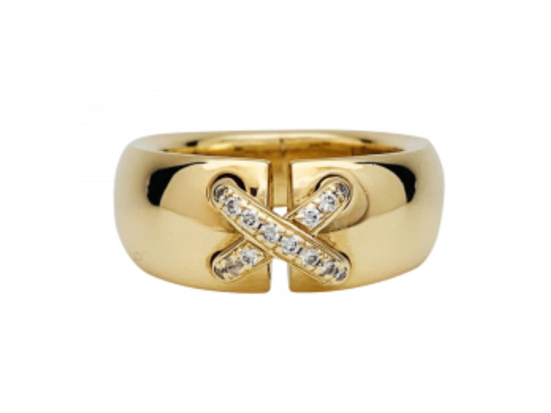 Chaumet 'Liens Croisés' кольцо с бриллиантами